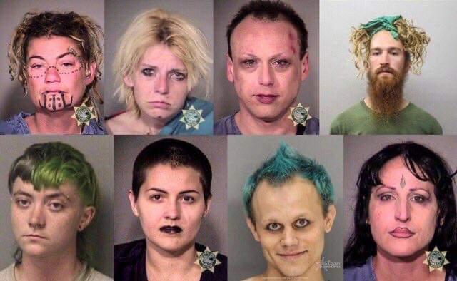 Antifa mugshots go viral online after Portland arrests