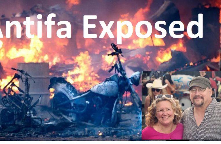 Antifa Terrorist exposed: talks of sabotaging patriots, burning motorcycles